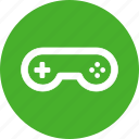arcade, circle, controller, game, gamepad, gaming, green icon