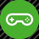 circle, green, arcade, controller, game, gamepad, gaming