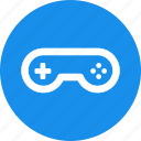 arcade, blue, circle, controller, game, gamepad, gaming icon