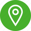 address, circle, gps, local, location, map, marker icon
