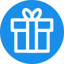 birthday, card, christmas, circle, donation, gift, present icon