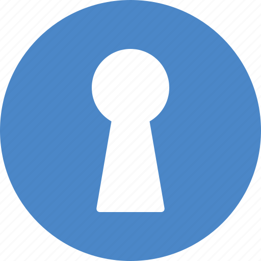access, door, hole, key, keyhole, password, unlock icon