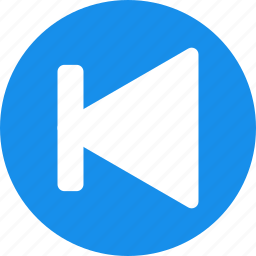 arrow, back, blue, circle, left, previous icon