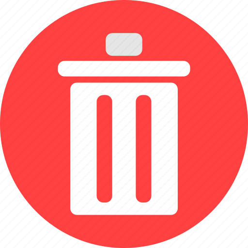 circle, delete, garbage, recycle, red, rubbish icon