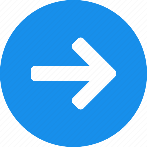 arrow, blue, circle, east, forward, next, right icon