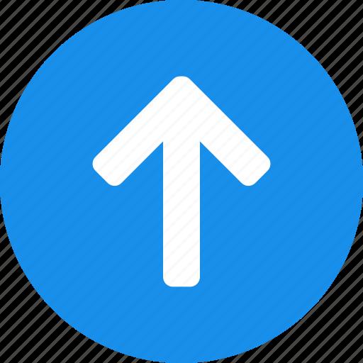 arrow, blue, circle, climb, direction, north icon