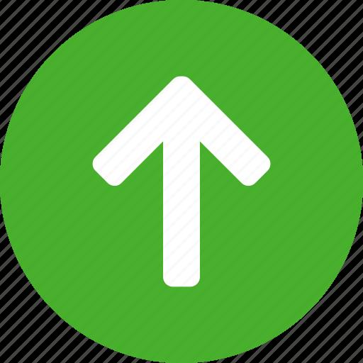 arrow, circle, climb, direction, green, north icon