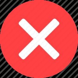cancel, close, delete, exit, stop icon