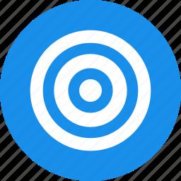 aim, blue, bullseye, efficiency, goal, marketing, objective icon