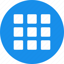 blue, circle, collection, gallery, inventory, menu icon