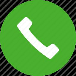 accept, call, circle, contact, green, phone, talk icon