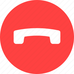 call, circle, end, finish, phone, red, talk icon
