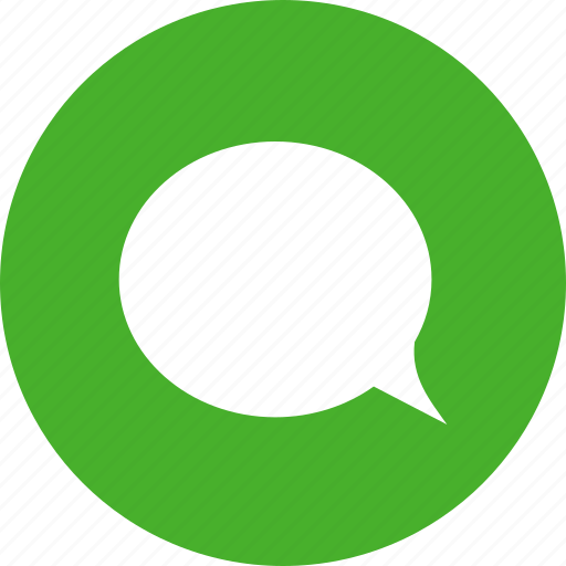 chat, chatting, circle, comment, green, message icon