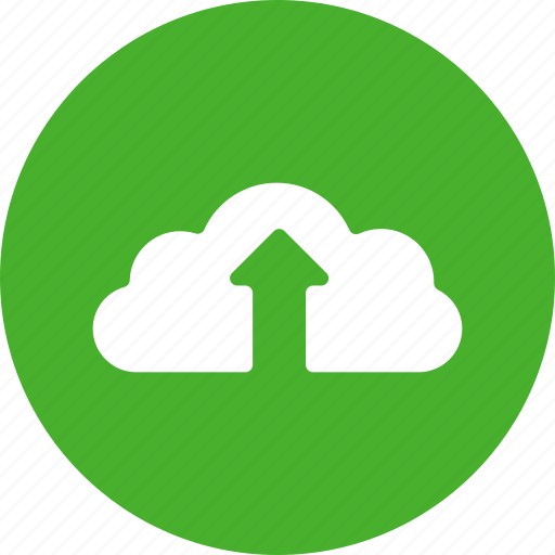 cloud, control, data, green, player, up, upload icon