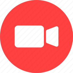 circle, movie, red, video, video camera icon