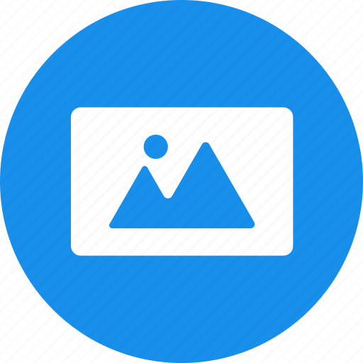 blue, circle, image, landscape, photo, photography icon