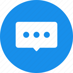 blue, bubble, chat, chat bubble, chat window, communication, talk icon
