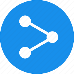 android, blue, circle, network, share, sharing icon