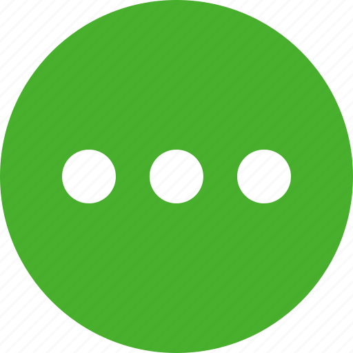 circle, continue, ellipsis, green, menu, more, options icon