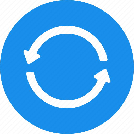 blue, refresh, reload, renew, repeat, retweet, sync icon