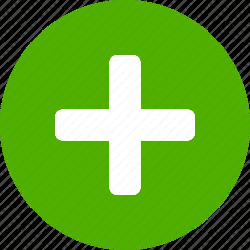 add, append, circle, create, green, new, plus icon