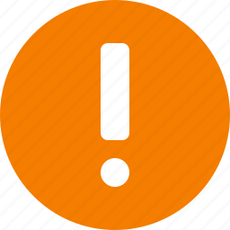 alert, attention, caution, circle, danger, orange, warning icon