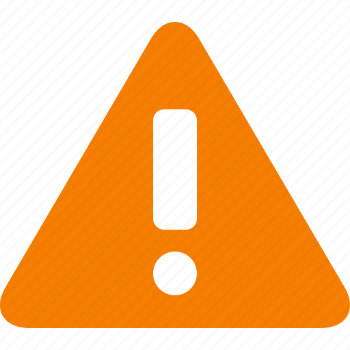 alert, attention, caution, danger, exclamation, orange, warning icon