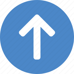arrow, blue, circle, climb, direction, north, up icon