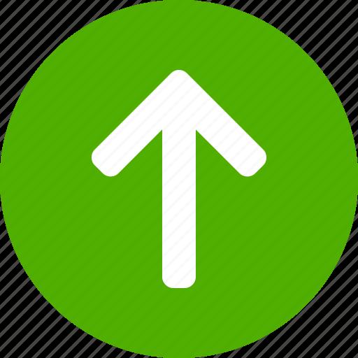arrow, circle, climb, direction, green, north, up icon