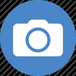 blue, camera, circle, photo, photographer, photography, shutterbug icon
