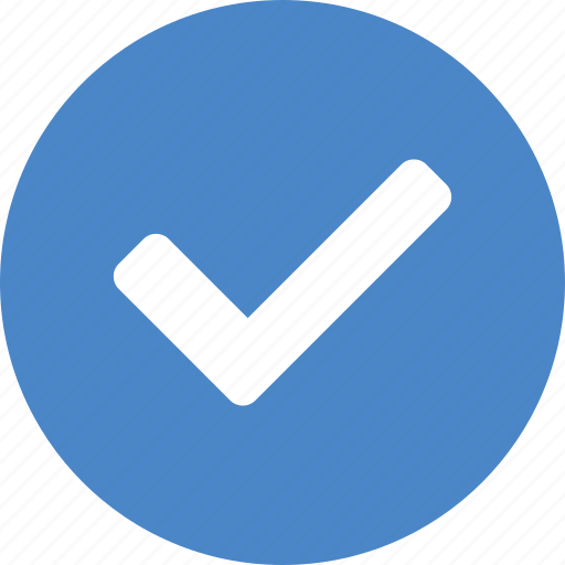 approved, blue, check, checkbox, confirm, success, yes icon