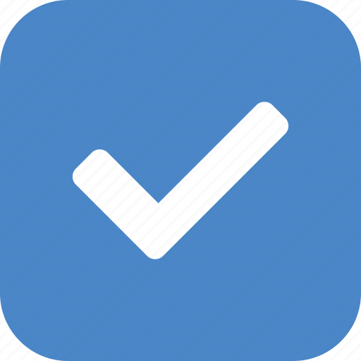 approved, blue, check, checkbox, confirm, square, yes icon