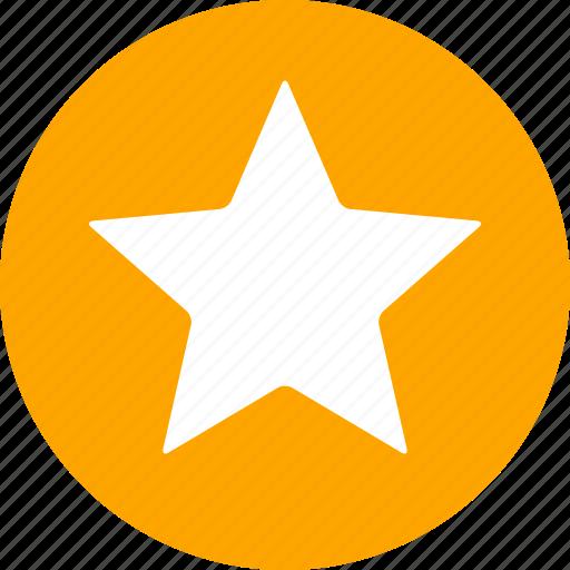 achievement, bookmark, circle, favorite, ranking, star, yellow icon