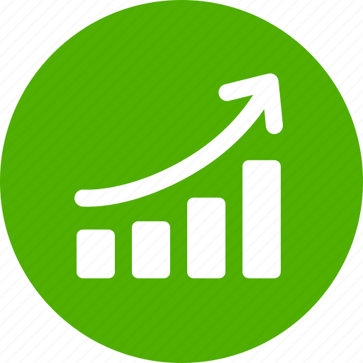 Chart, circle, graph, green, revenue growth, sales ...