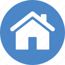 address, blue, casa, circle, home, house, local icon