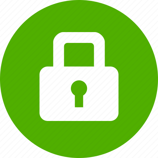 Circle, green, lock, privacy, safe, secure, security icon - Download on  Iconfinder
