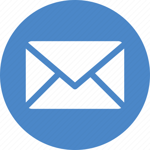 Blue, circle, email, letter, mail, message, messages icon - Download on Iconfinder
