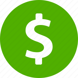 circle, dollar, finance, insurance, money, payment, sign icon
