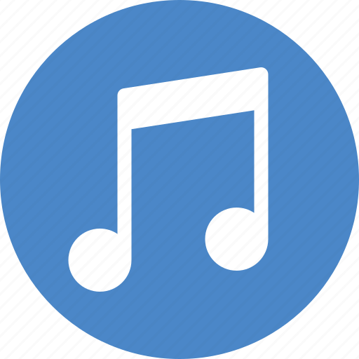 audio, blue, circle, music, radio, service, song icon