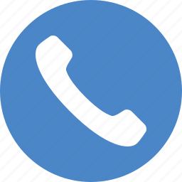 blue, call, circle, contact, phone, support, talk icon