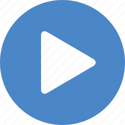 blue, circle, movie, next, play, start, video icon