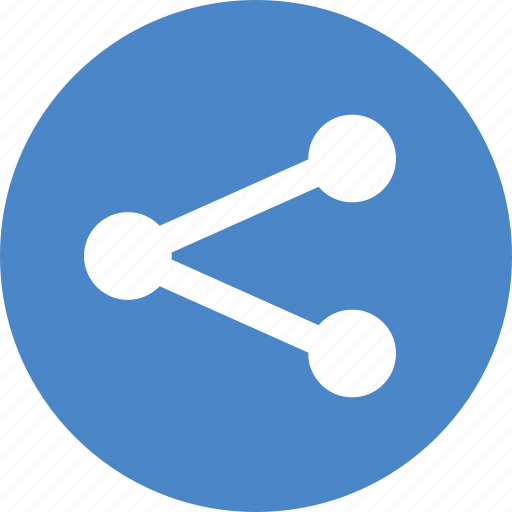 android, blue, circle, network, share, sharing, social icon