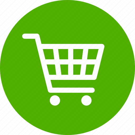 Buy, cart, circle, ecommerce, green, shopping, trolley ...