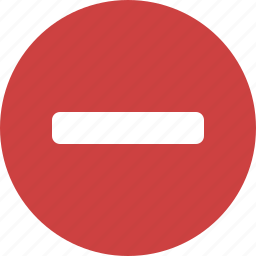 circle, deduct, delete, minus, red, remove, subtract icon