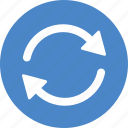 blue, circle, refresh, reload, rotate, sync, update icon
