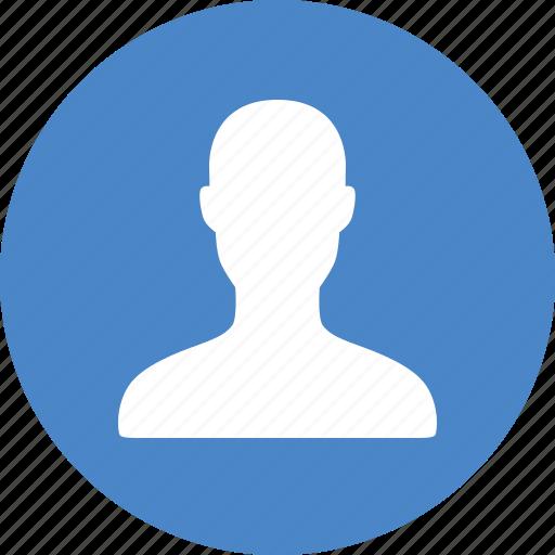 account, avatar, blue, circle, male, profile, user icon