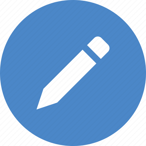 blue, circle, compose, draw, edit, pencil, write icon