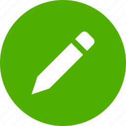 circle, compose, draw, edit, green, pencil, write icon