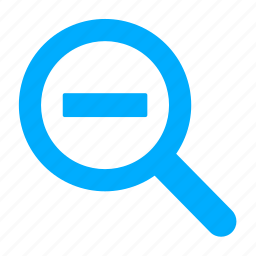 find, magnifying glass, out, search, zoom icon