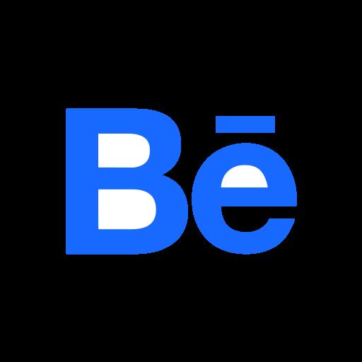behance, logo, portfolio, social icon